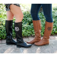 Monogram Boots - Tall