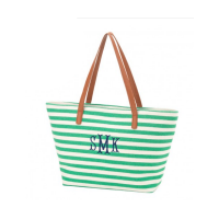 Striped Purse - Green