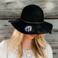 Floppy Wool Hat - Black