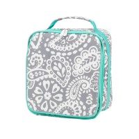 Lunch Box - Gray Paisley