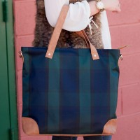 Shoulder Bag - Plaid