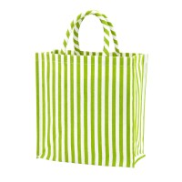 Small Tote Bag - Green Stripe