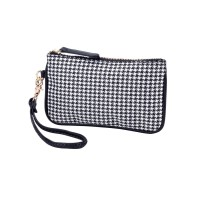 Mini Wristlet - Houndstooth