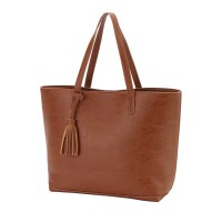 Purse with Tassel - Camel