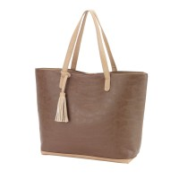 Purse with Tassel - Taupe