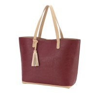 Purse with Tassel - Wine
