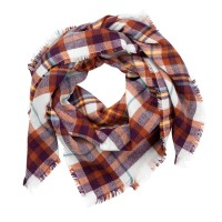 Blanket Scarf - Purple and Rust