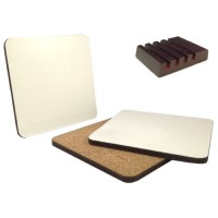 Coasters Set of 4 with Stand
