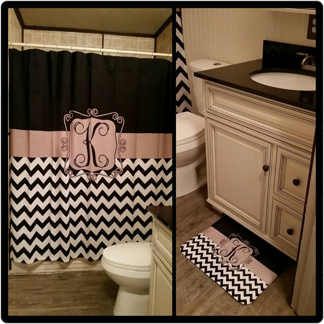 Monogrammed Shower Curtain Sale