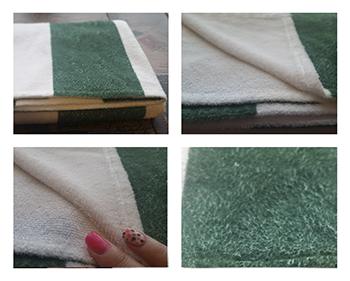 Monogram Beach Towel Closeup