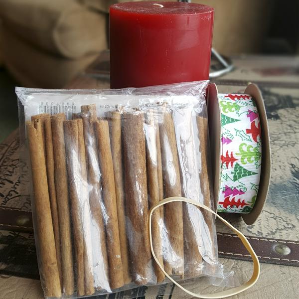 Cinnamon Stick Candle Materials