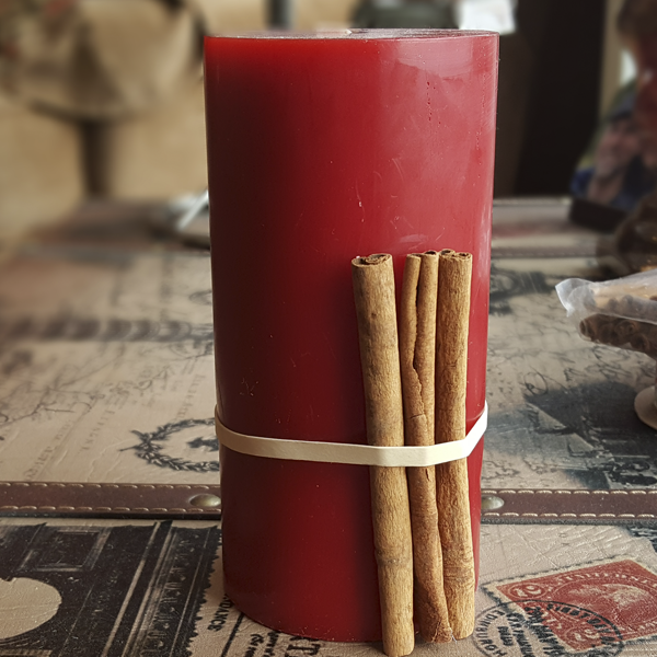 Cinnamon Stick Candle Step 2