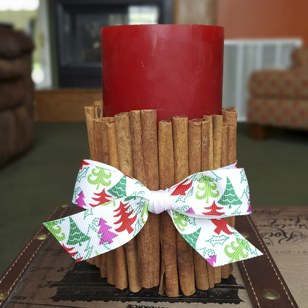 Cinnamon Stick Candle Front view