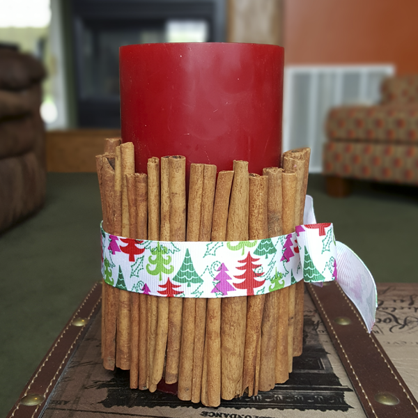 Cinnamon Stick Candle Final Step